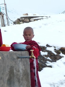 Young monk in Lingzi